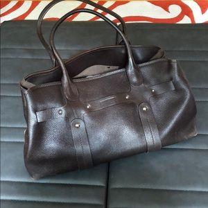Brown leather Ferragamo purse